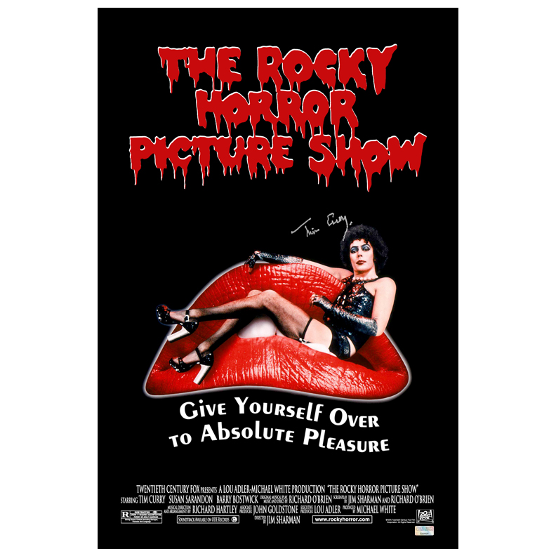lot detail tim curry autographed the rocky horror picture show